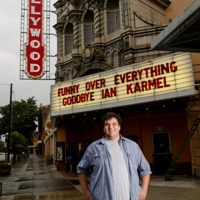 01 Funny Over Everything - Ian Karmel in front of the Hollywood Theater