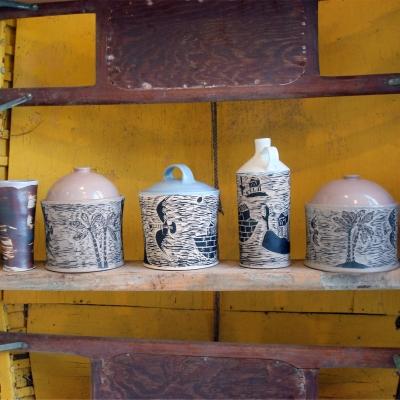 Flying Uke - Daniel George - jars and pots at The Renegade Art Gallery