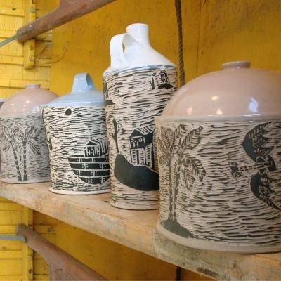 Flying Uke - Daniel George - jars and pots at The Renegade Art Gallery 2
