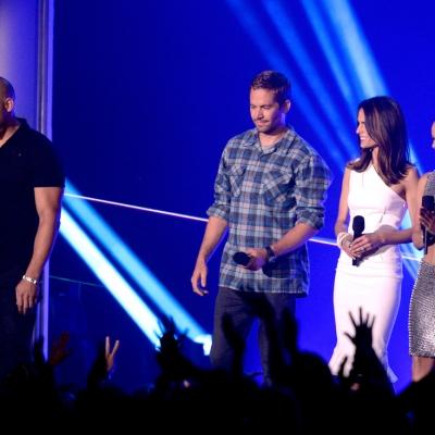 Vin Diesel, Walker, Jordana Brewster and Michelle Rodriguez at the 2013 MTV Movie Awards