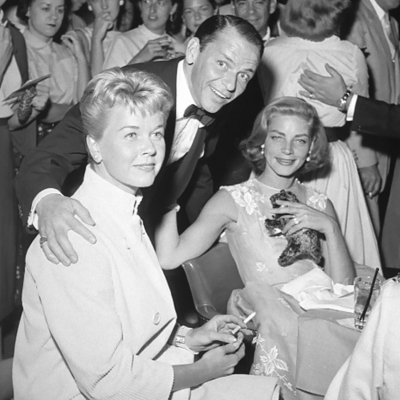 1956 - Doris Day, Frank Sinatra and Lauren Bacall at the Sands Hotel