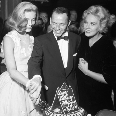 1956 - Lauren Bacall with Frank Sinatra and Kim Novak at the Sands Hotel