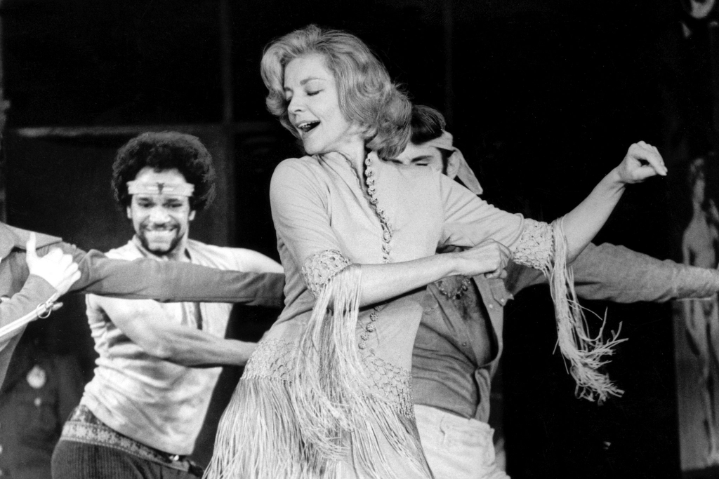 1970 - Lauren Bacall on stage in musical comedy 'Applause'