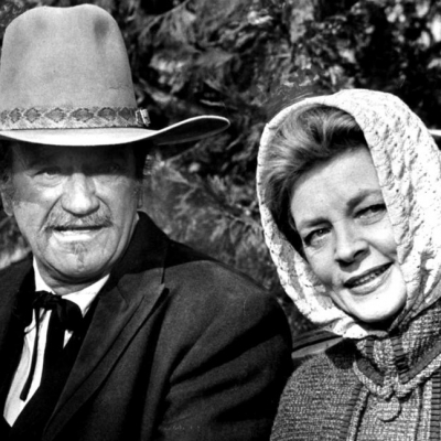 1976 - Bacall starred alongside John Wayne in his last film 'The Shootist' (Paramount Pictures)