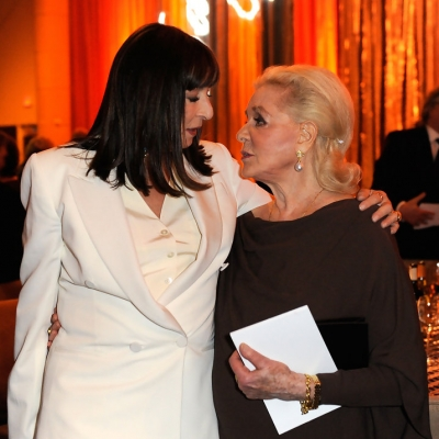 2009 - Lauren Bacall with Anjelica Houston at Academy Of Motion Picture Arts And Sciences' Inaugural Governors Awards