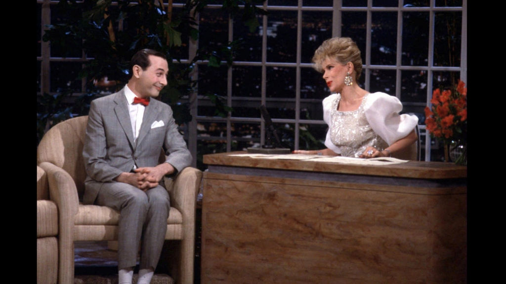 1986 - The launch of 'The Late Show Starring Joan Rivers' with guest Pee Wee Herman (Ron Batadorff-Fox)