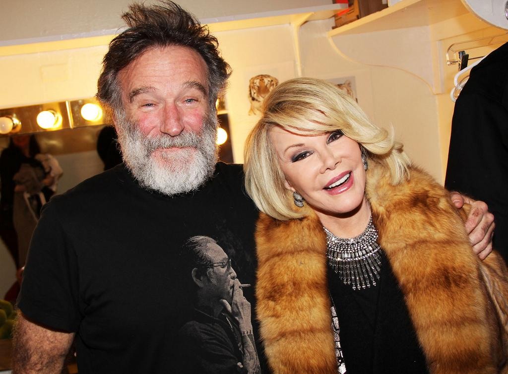 Joan Rivers with Robin Williams