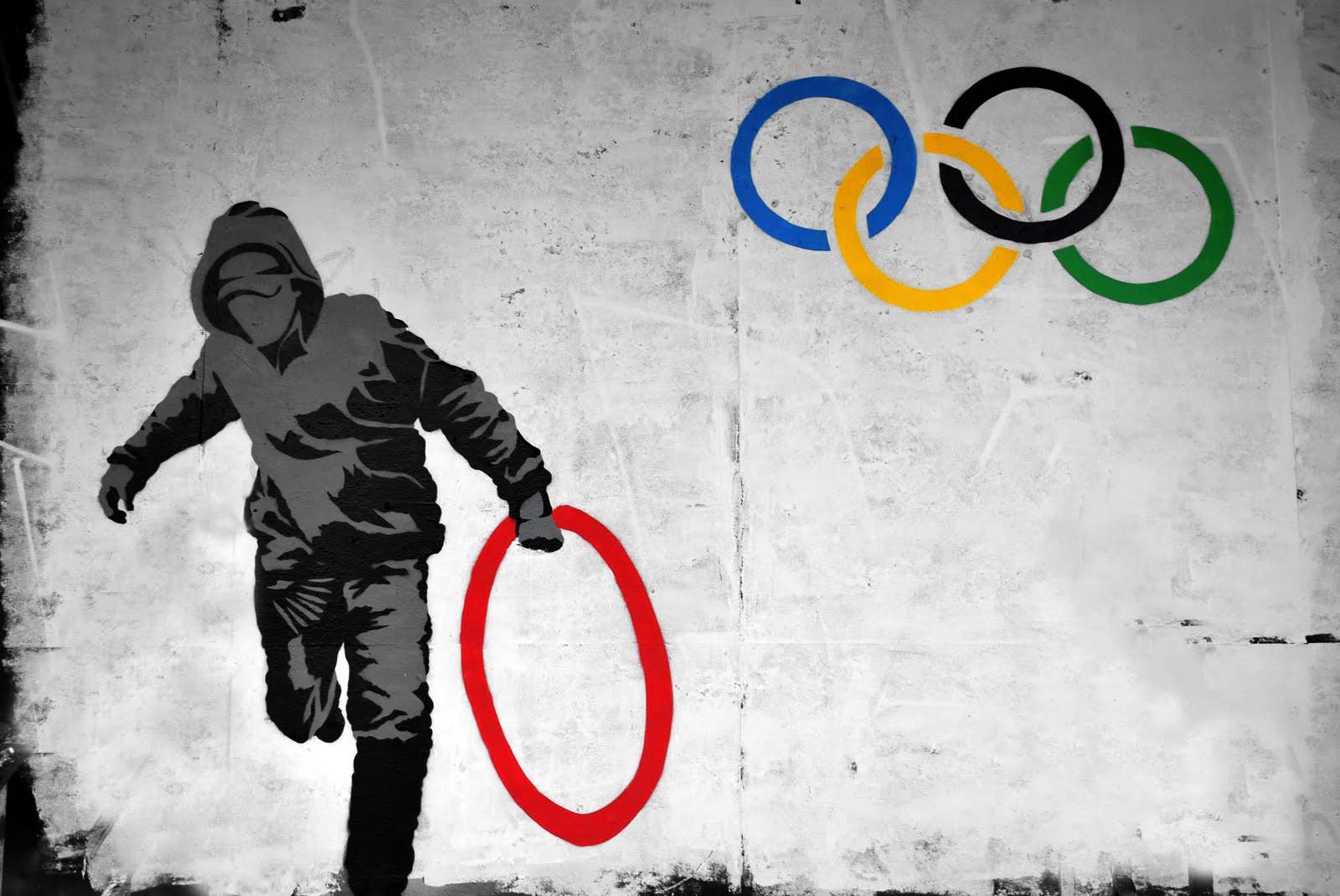 Olympic Rings アート バンクシーbanksy Pcデスクトップ壁紙 画像